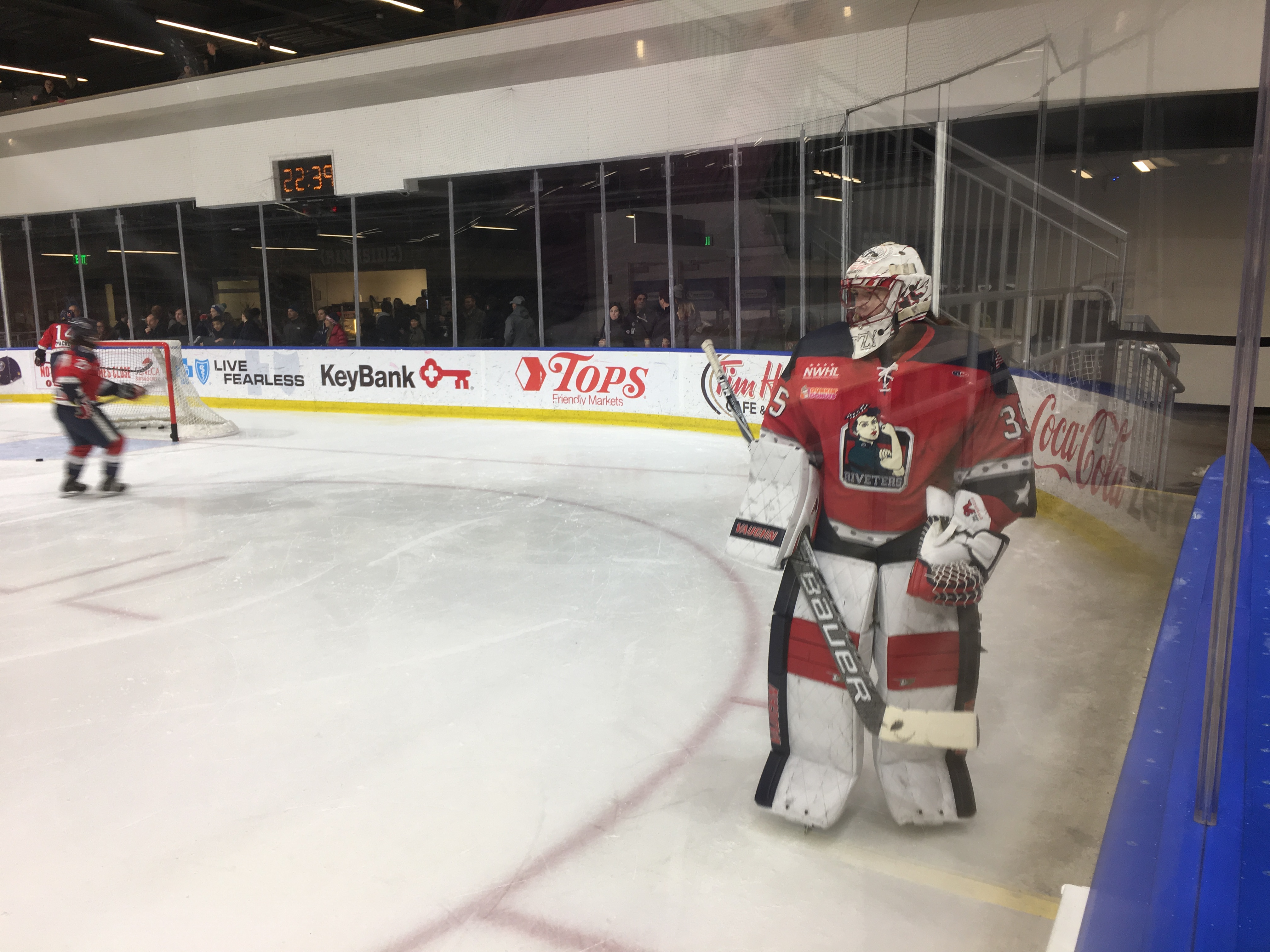 NWHL: Fitzgerald Backstops Riveters to Second Place