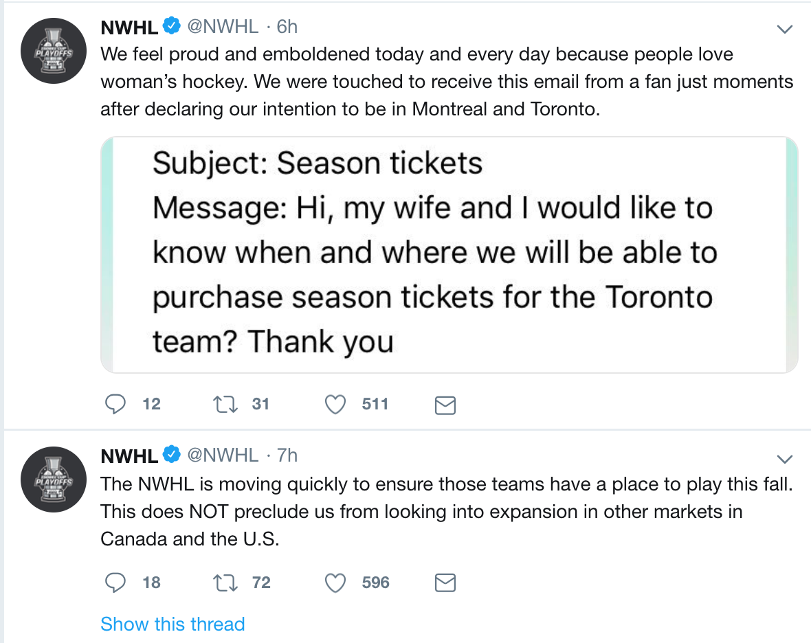 Slow Your Roll: All the Latest CWHL/NWHL/NHL #OneLeague