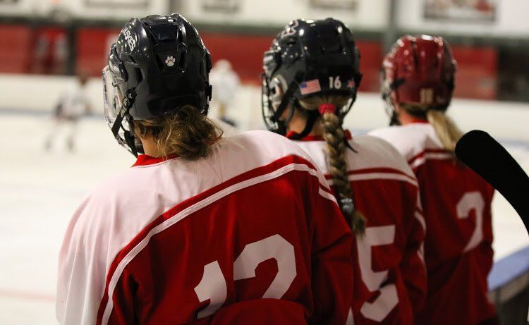 In Hudson, New Hampshire, Women's Hockey Plays On